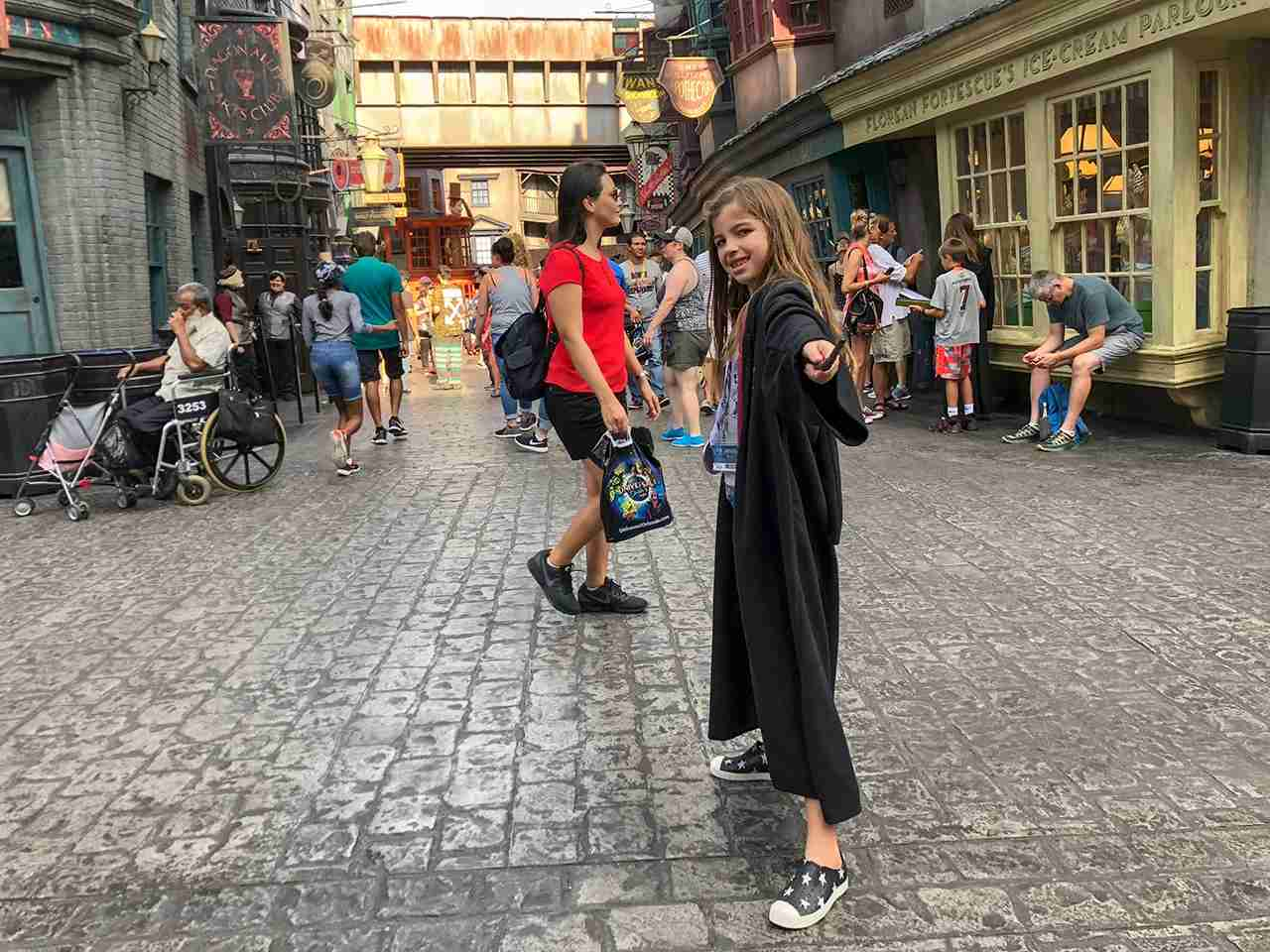 My oldest in full Harry Potter mode