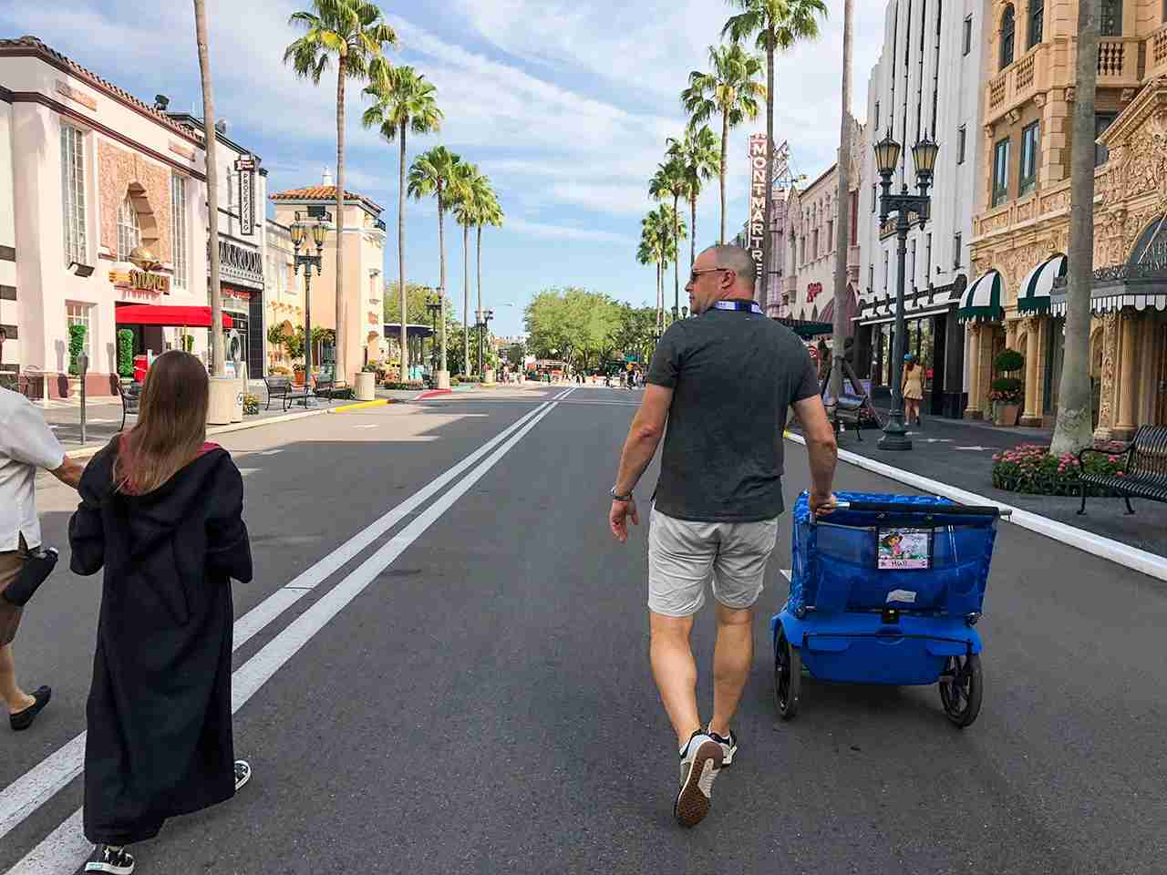 Manageable park size at Universal Studios