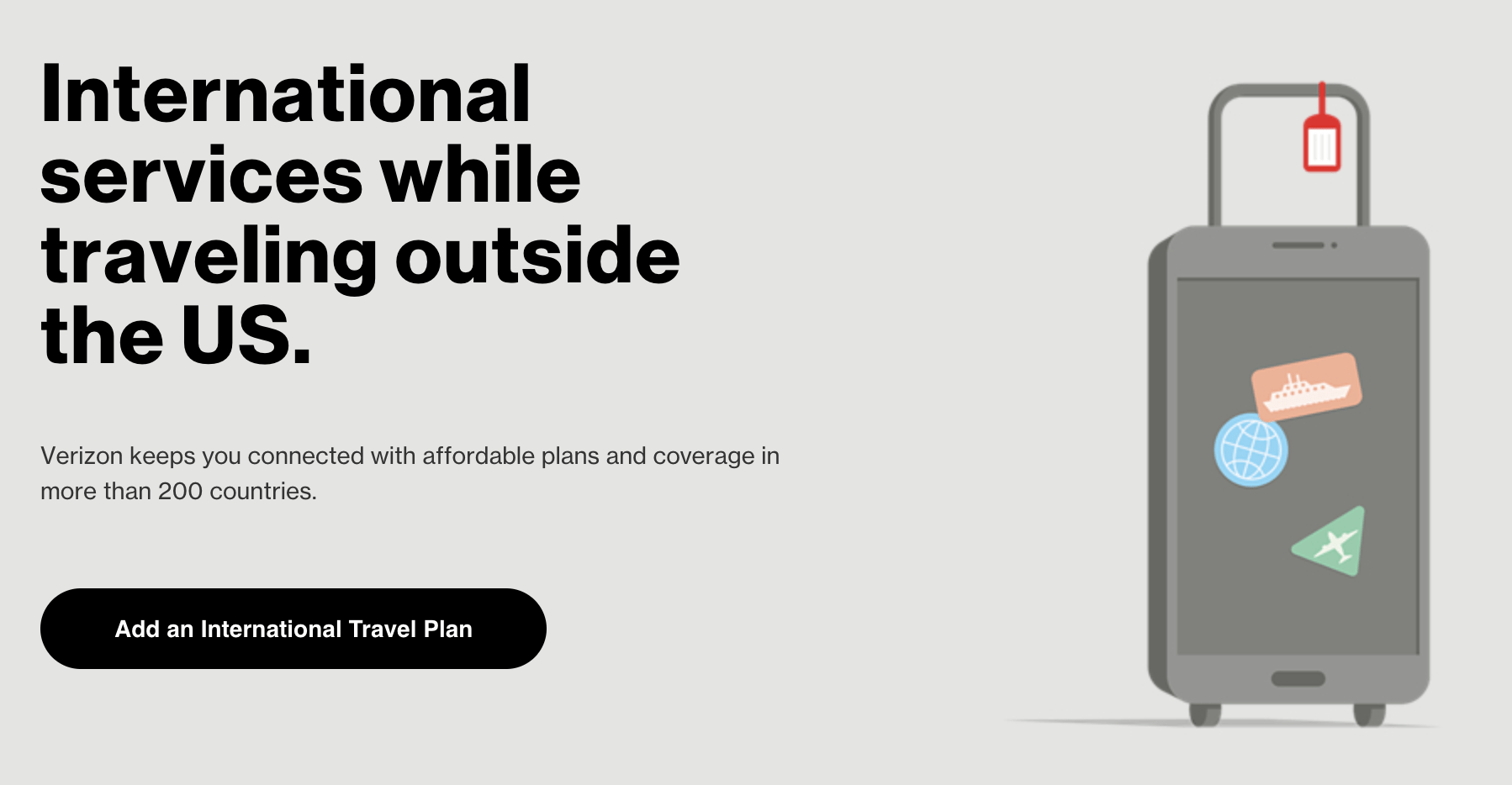Verizon International TravelPass Banner