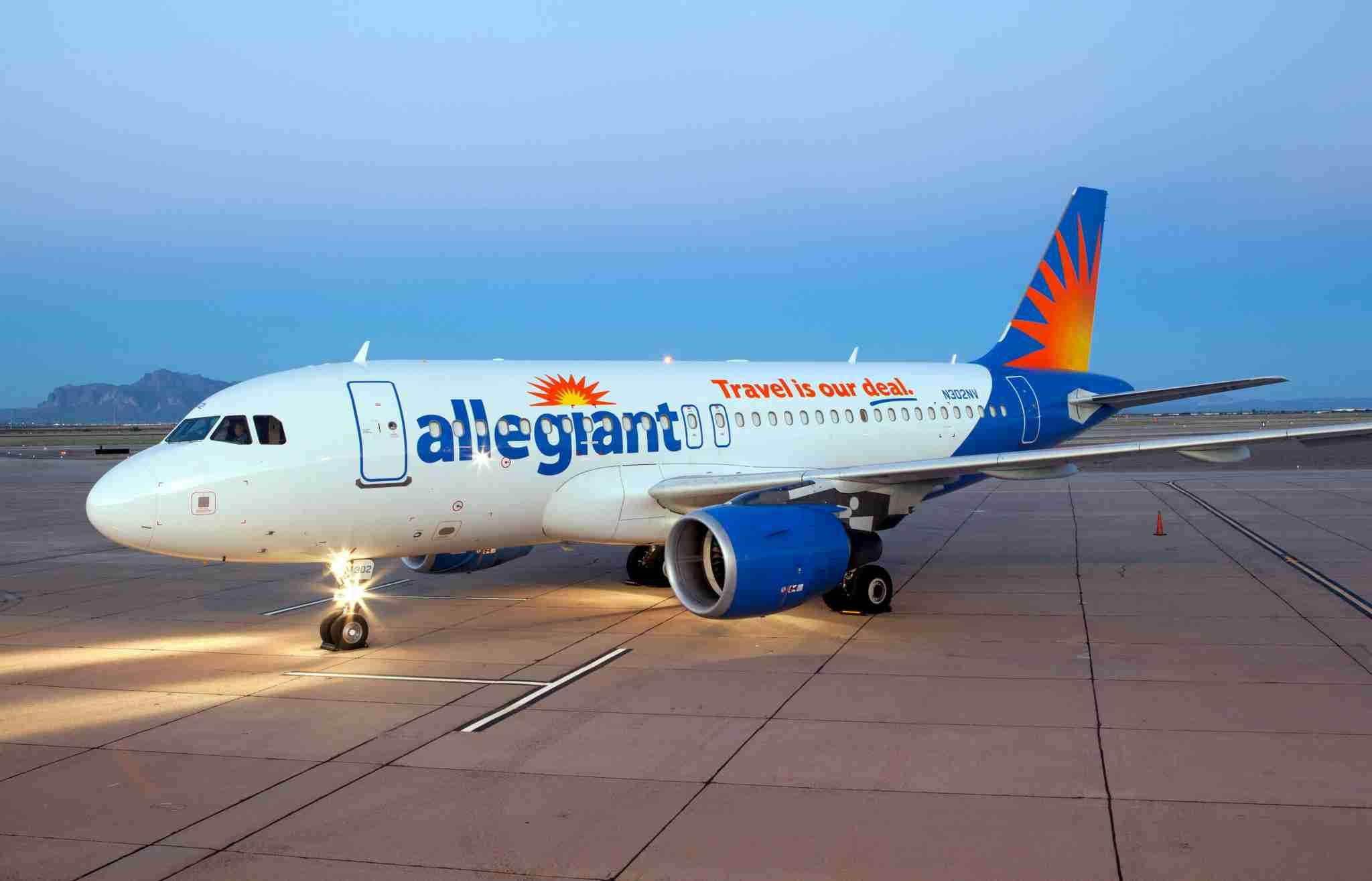An Allegiant Air Airbus A320.