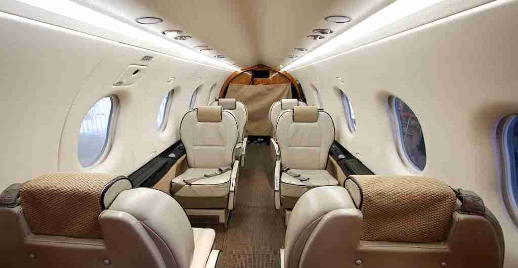 Inside the Pilatus PC-12. Photo courtesy of Boutique Air.