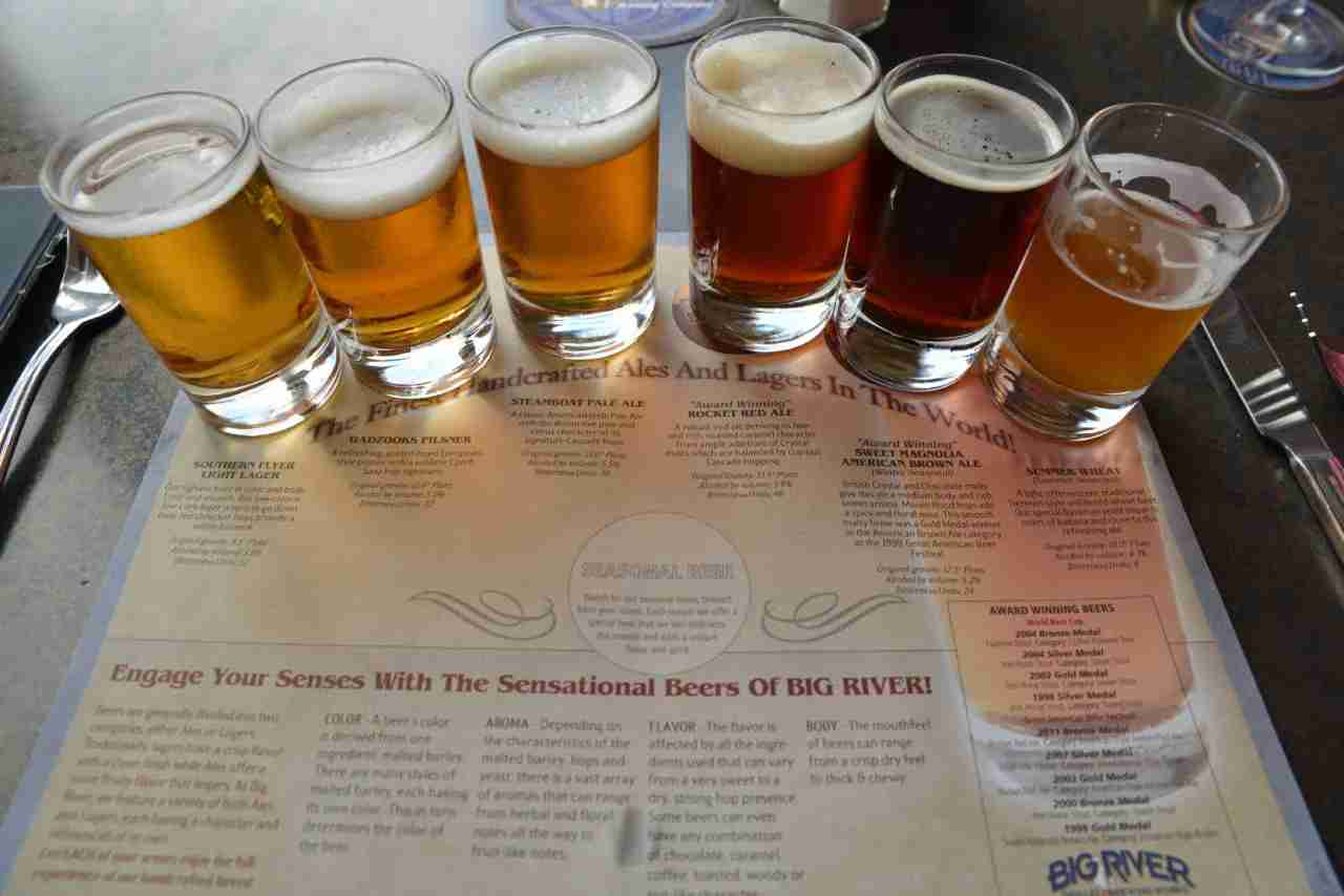 Beer Flight at Disney World Restaurant. Photo by Frank Phillips/Flickr
