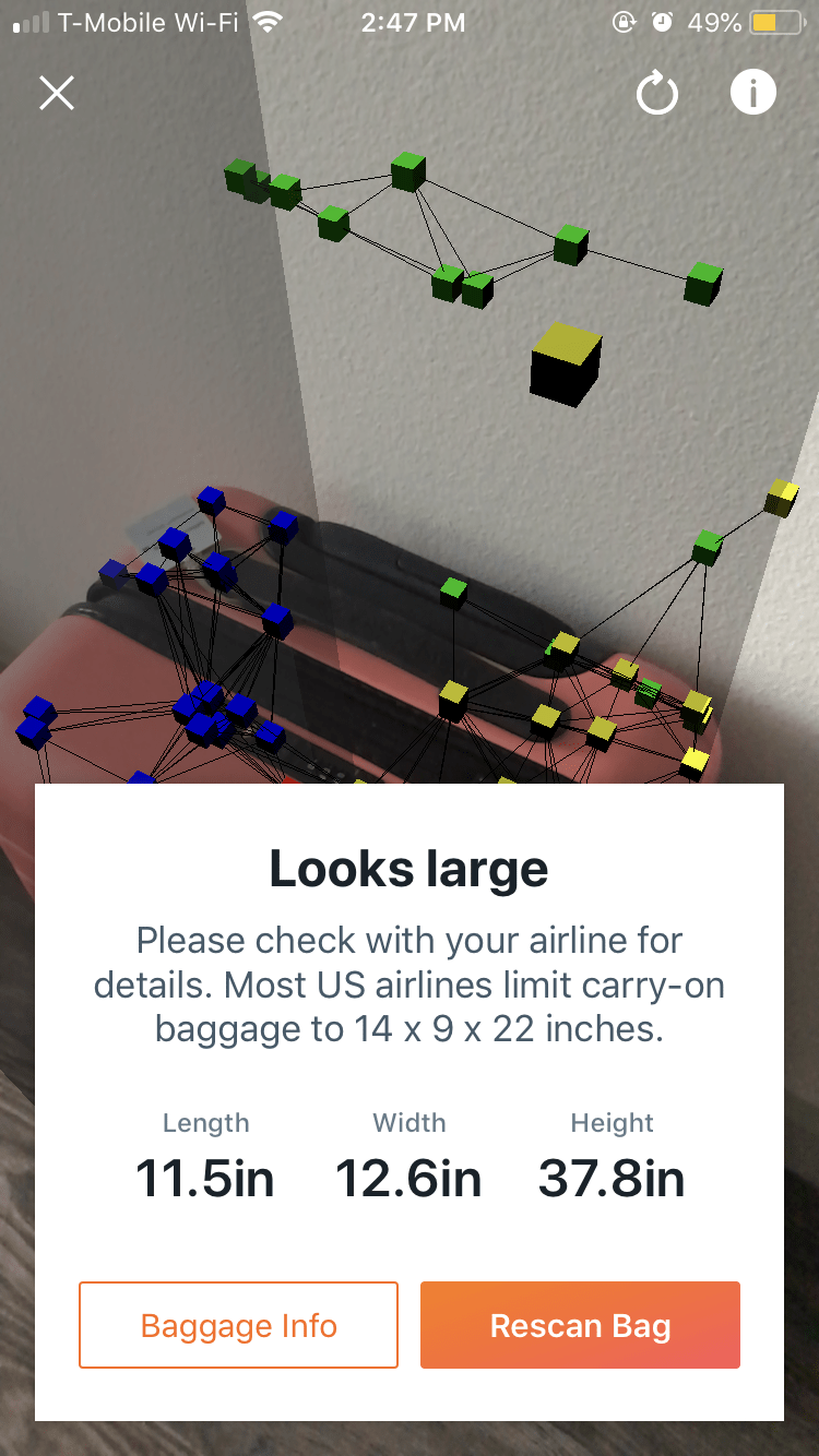 Kayak Launches Augmented Reality Bag Measurement App Feature