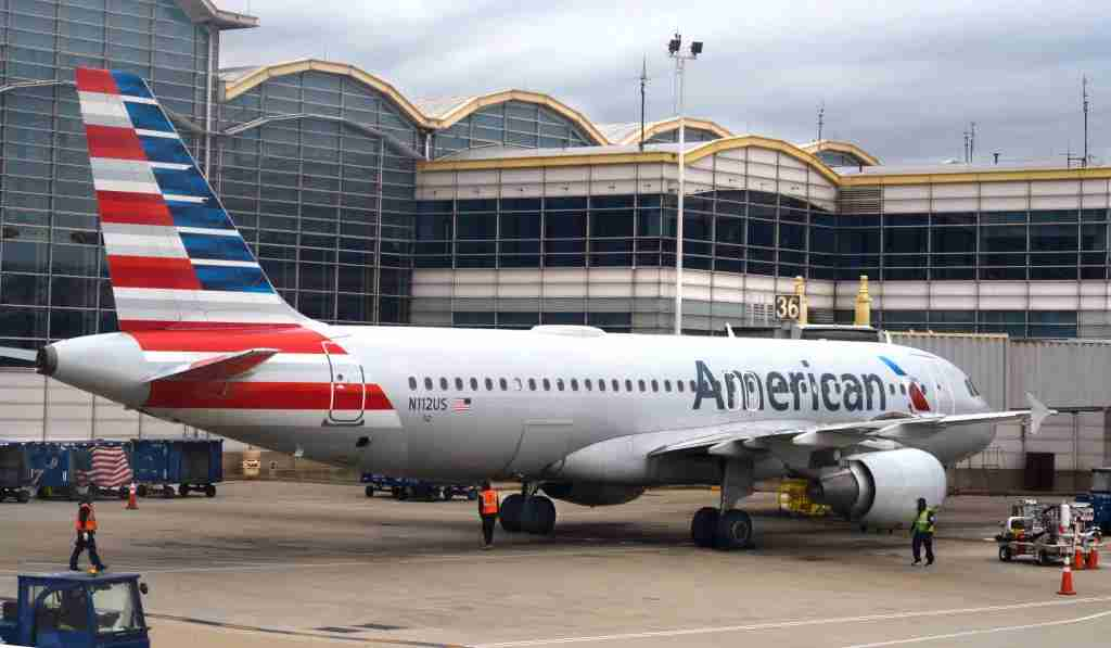 WASHINGTON, D.C. - APRIL 24, 2018: An American Airlines Airbus A320 passenger plane is serviced at a gate at Ronald Reagan Washington National Airport in Washington, D.C. (Photo by Robert Alexander/Getty Images)