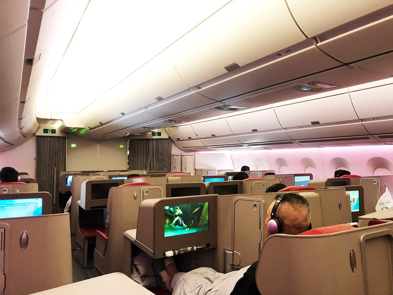 Review: Hong Kong Airlines (A350-900) Biz From LAX to HKG