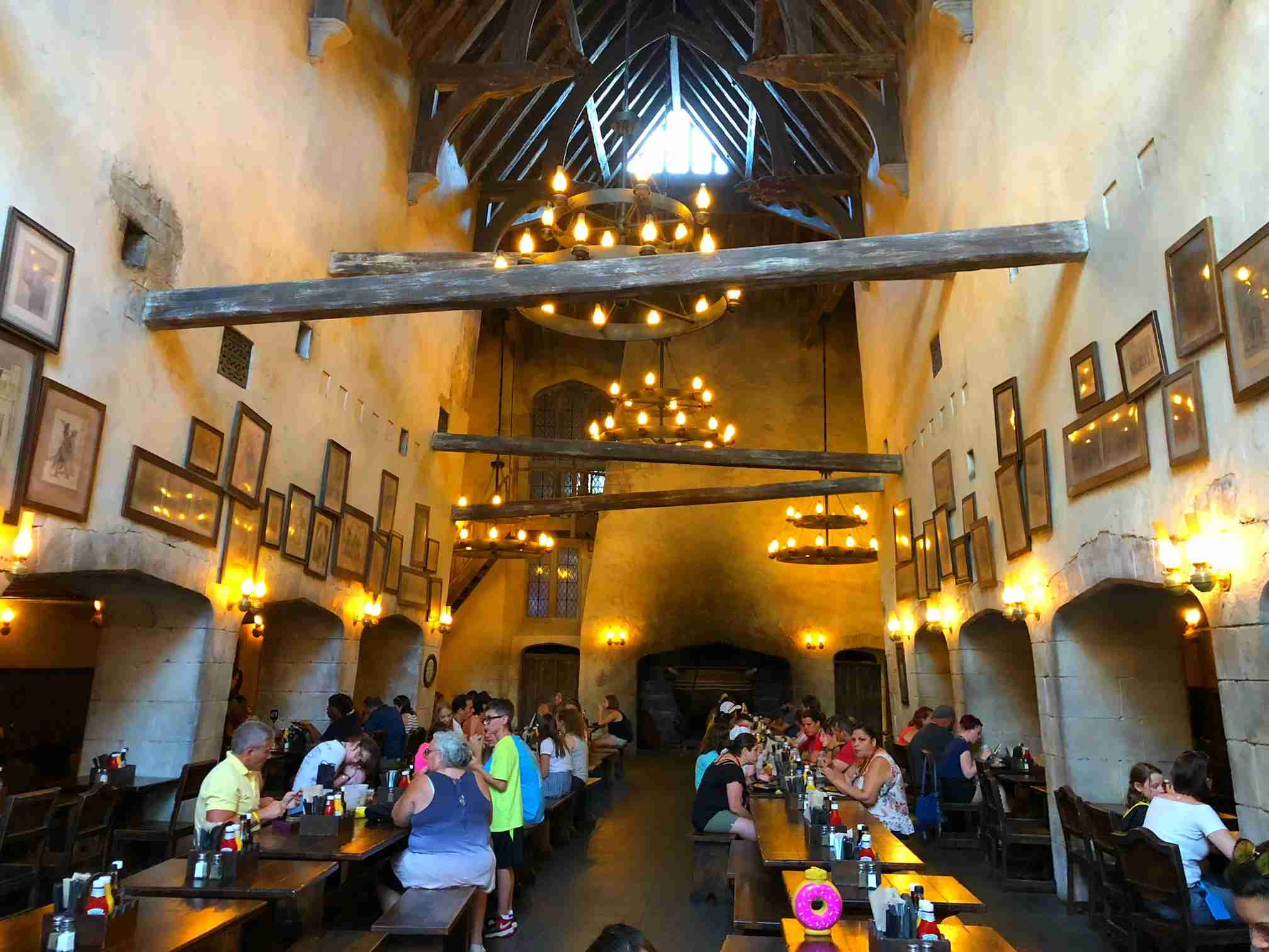 We ate in both Harry Potter restaurants with no reservations and no waits
