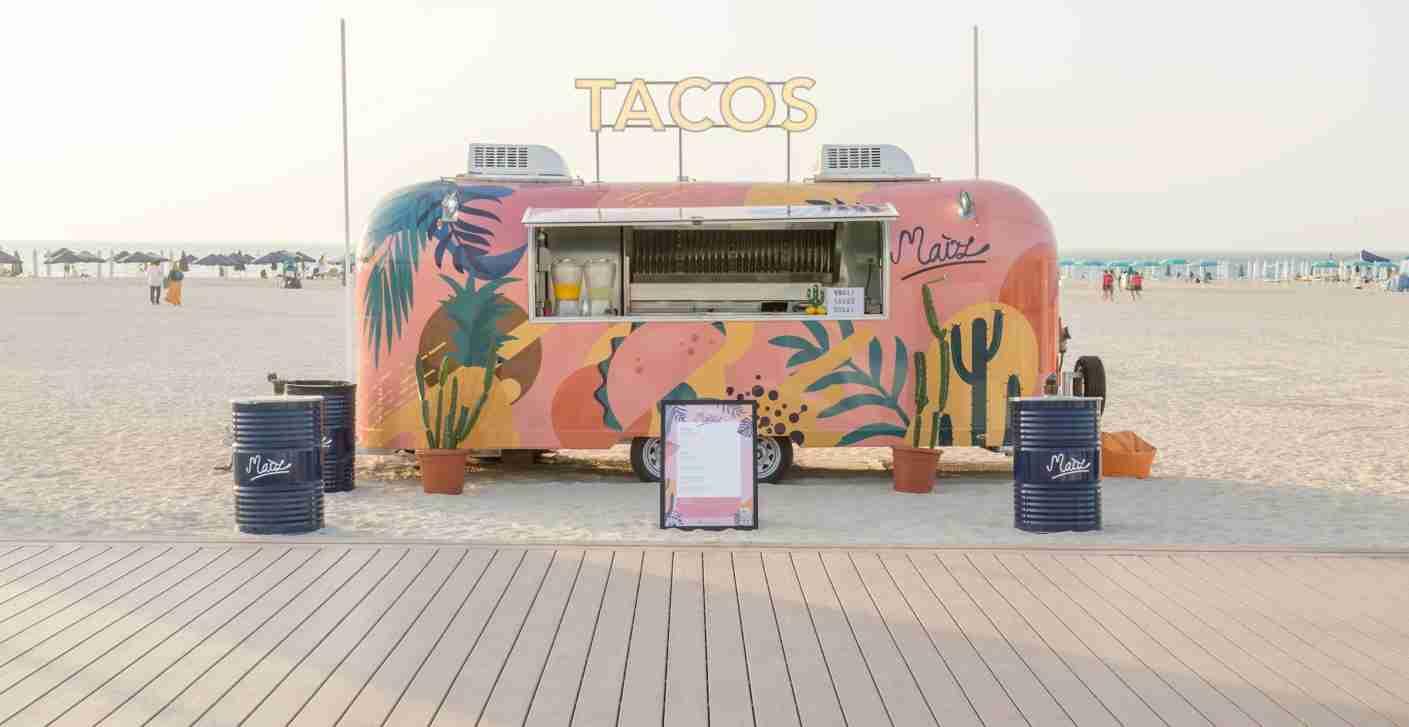 Stop for tacos on the beach at Maiz. Photo courtesy of Maiz Tacos.