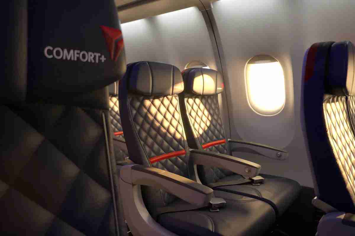 Comfort+ seats on an Airbus 330-300 (Photo courtesy of Delta Air Lines)