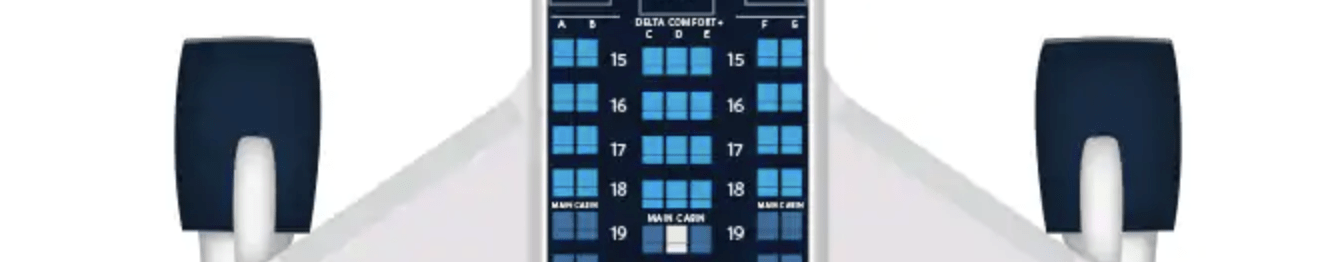 There are four rows of Delta Comfort+ aboard the Boeing 767-400
