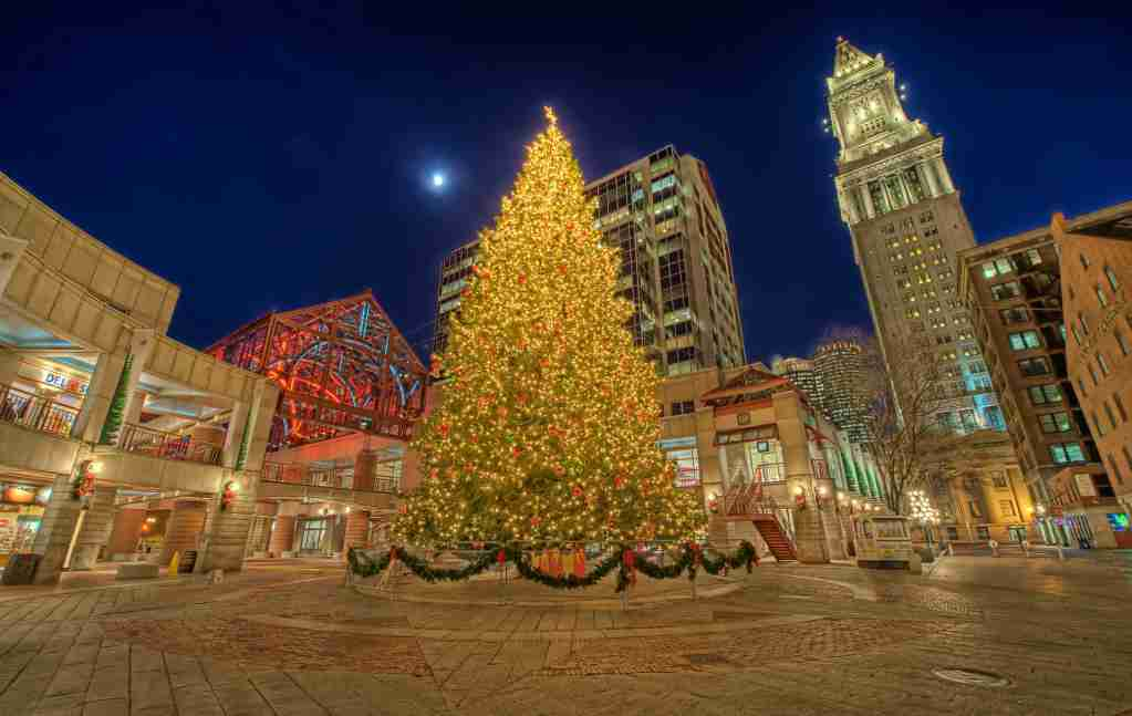 Faneuil Hall at Christmastime