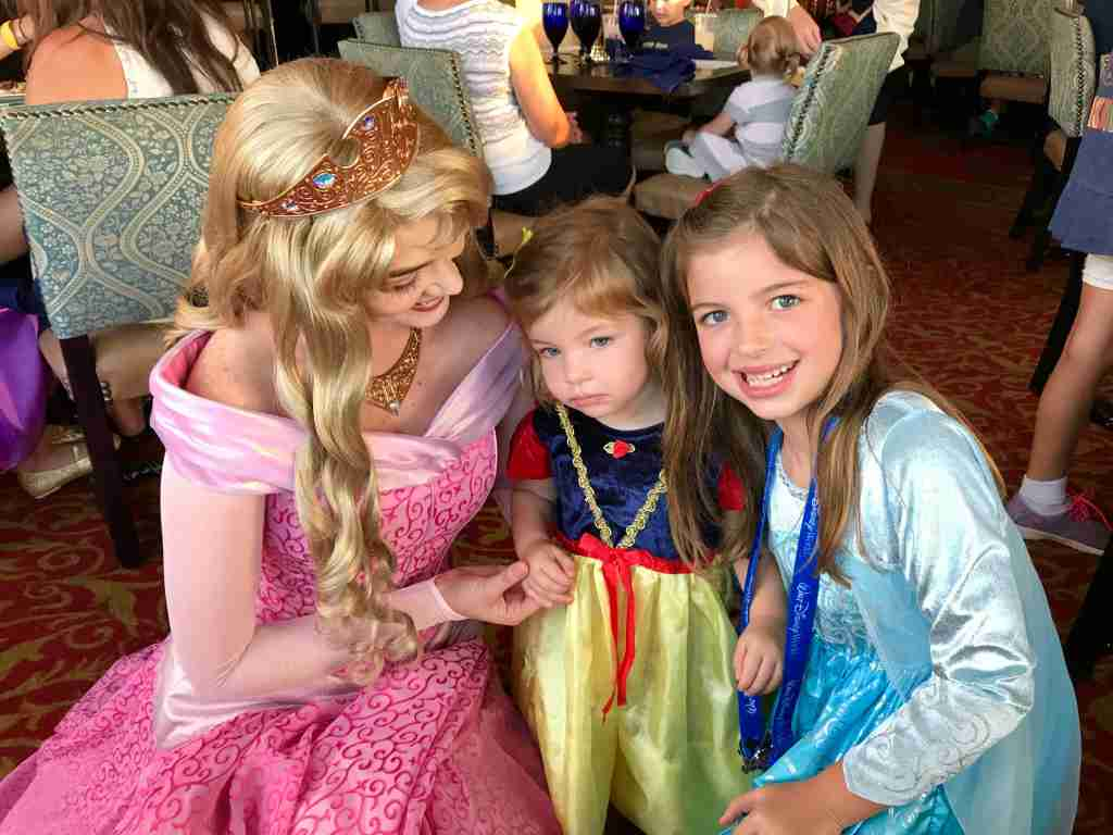 Time with princesses inside the castle