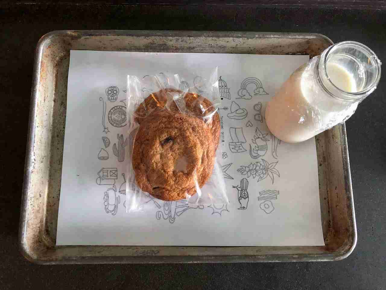 Free cookies sent up at the Kimpton Van Zandt
