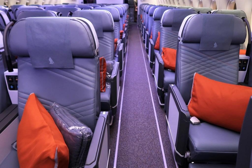 Singapore Airlines Premium Economy A350-900ULR Singapore-Newark