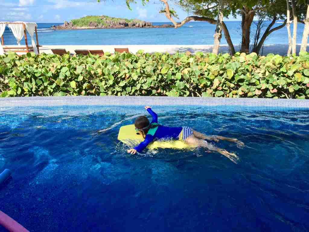 Swimming the day away at the St. Regis Punta Mita