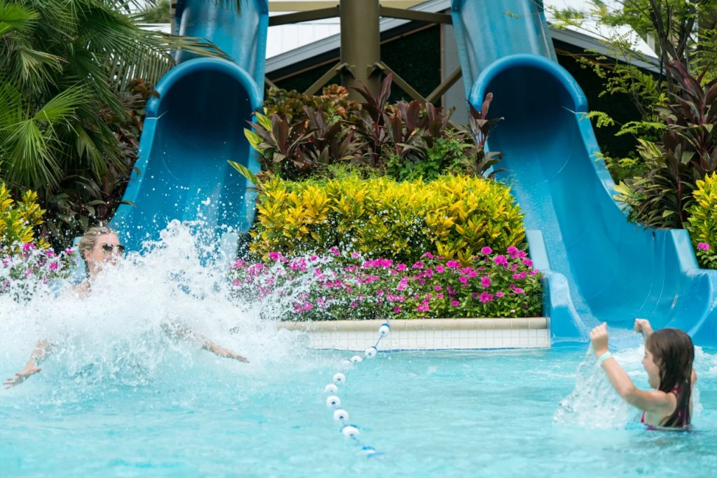 Waterslides at Hyatt Coconut Point (Photo by Shelby Soblick for The Points Guy)