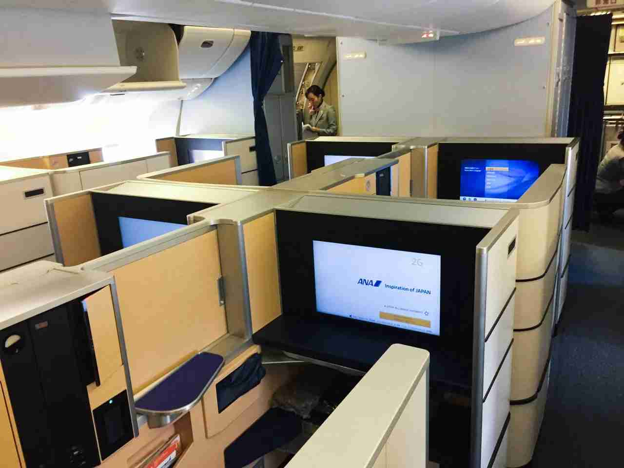 ANA 777-300ER first class. Photo by Ethan Steinberg/TPG