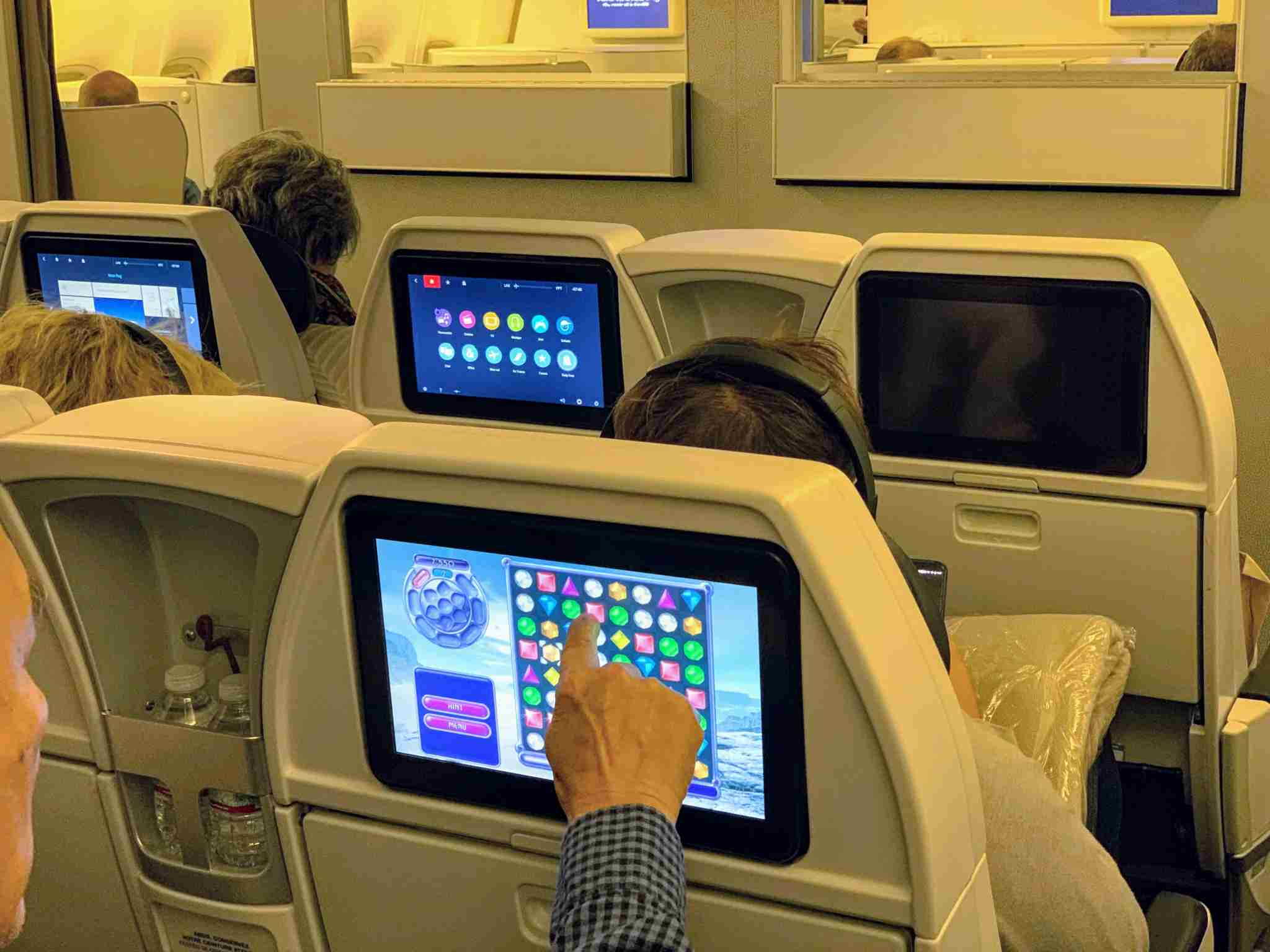 Air France Boeing 777-200 Premium Economy seatback IFE