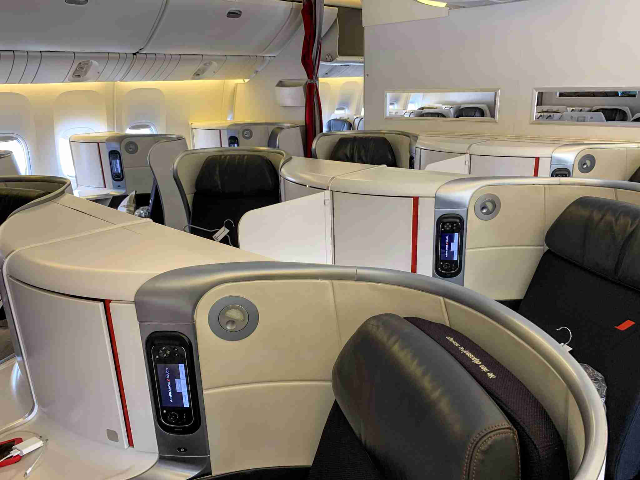Air France Boeing 777 Business Class Seat rear cabin