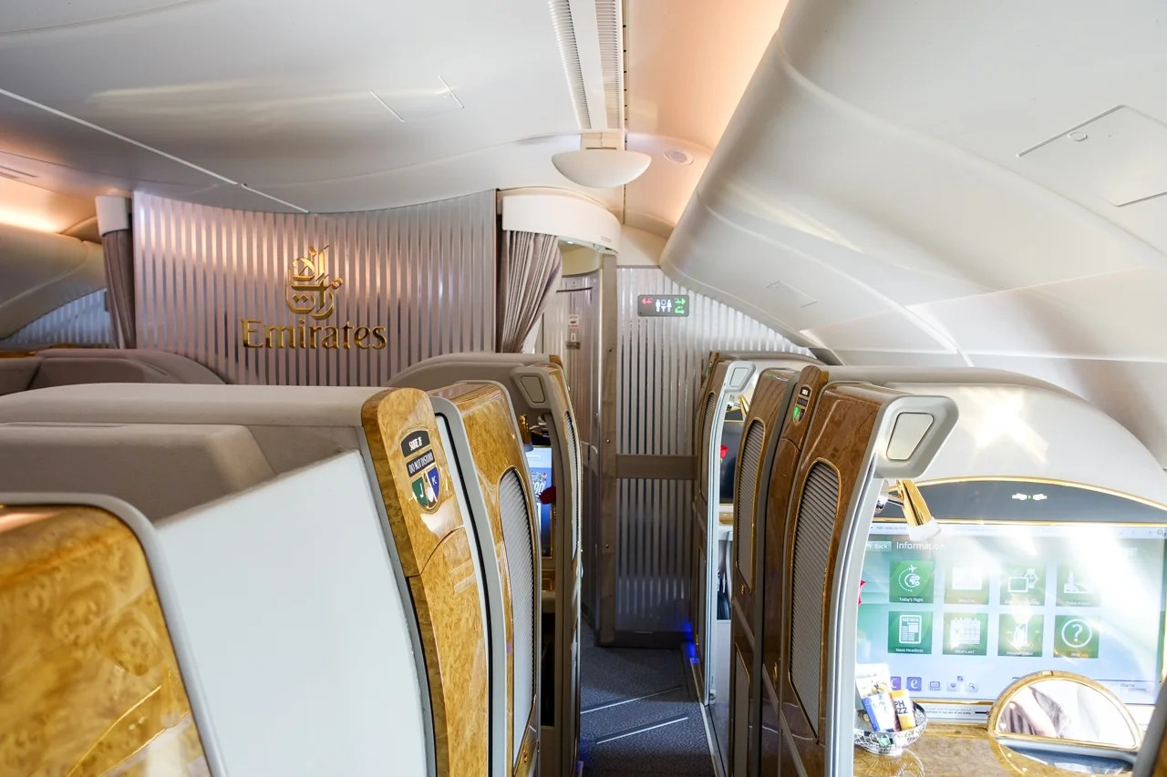 Review Emirates First On The A380 From New York To Dubai