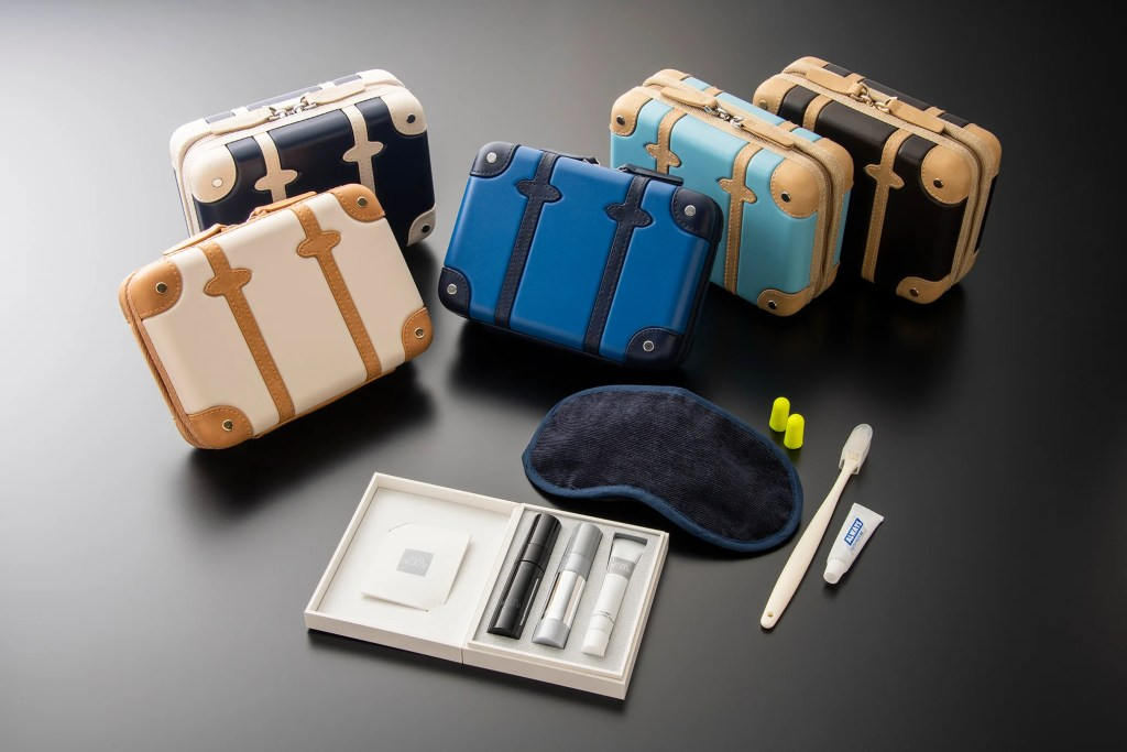 ANA A380 special amenity kits designed by Globe Trotter