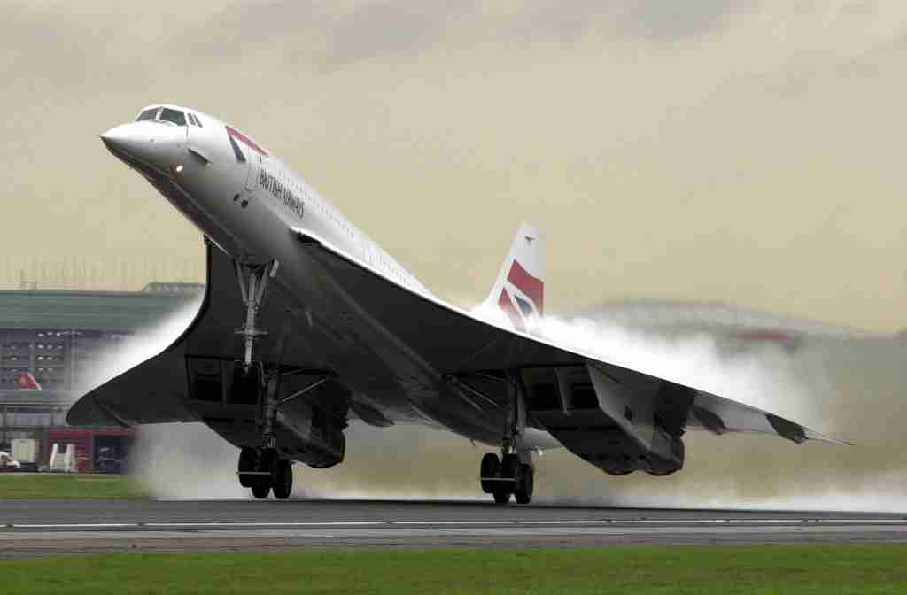 The British Airways Concorde takes off. (Image by David Parker/BWP Media/Getty Images)