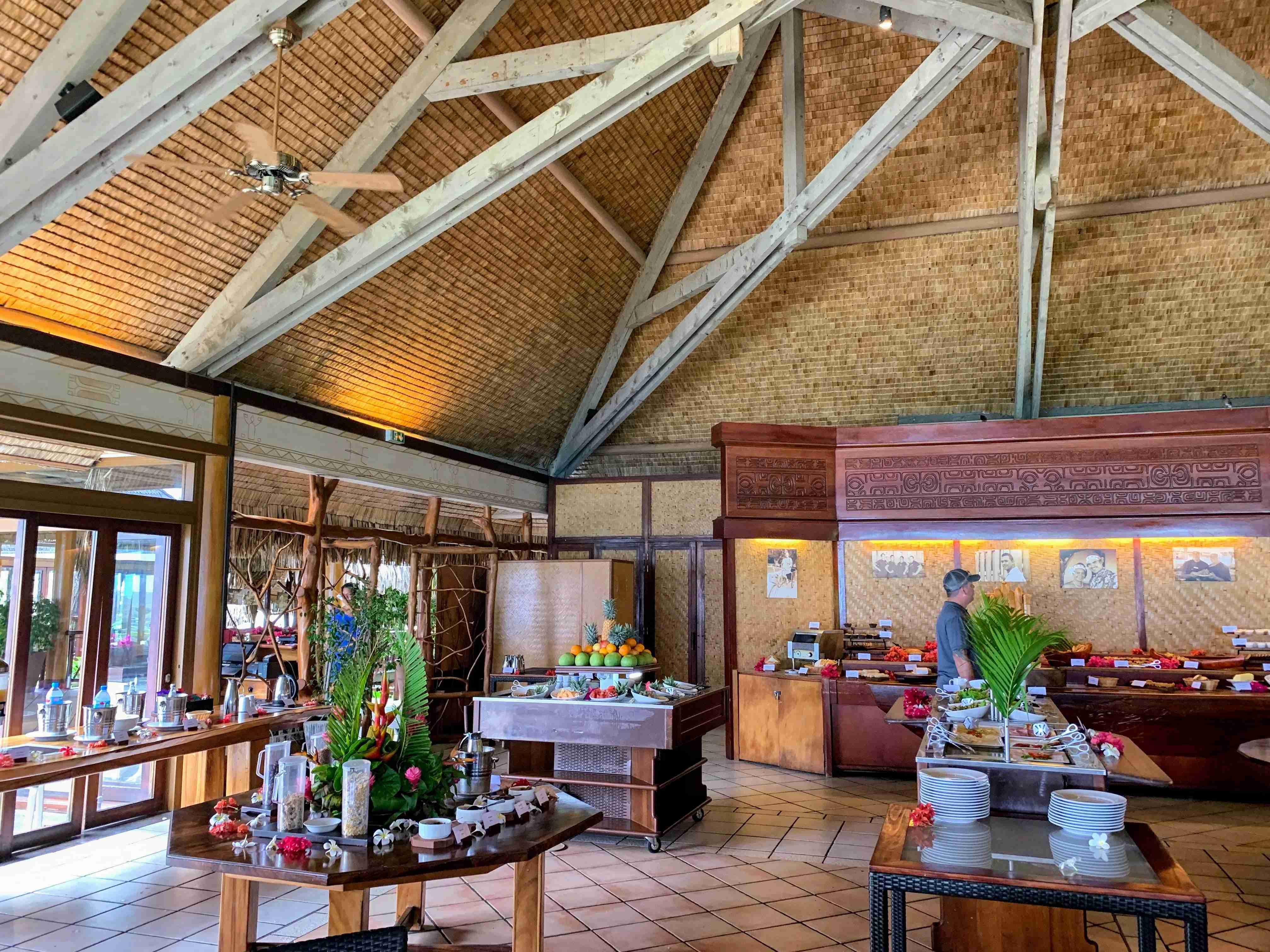 Hilton Moorea Lagoon Resort and Spa - arii vahine breakfast buffet