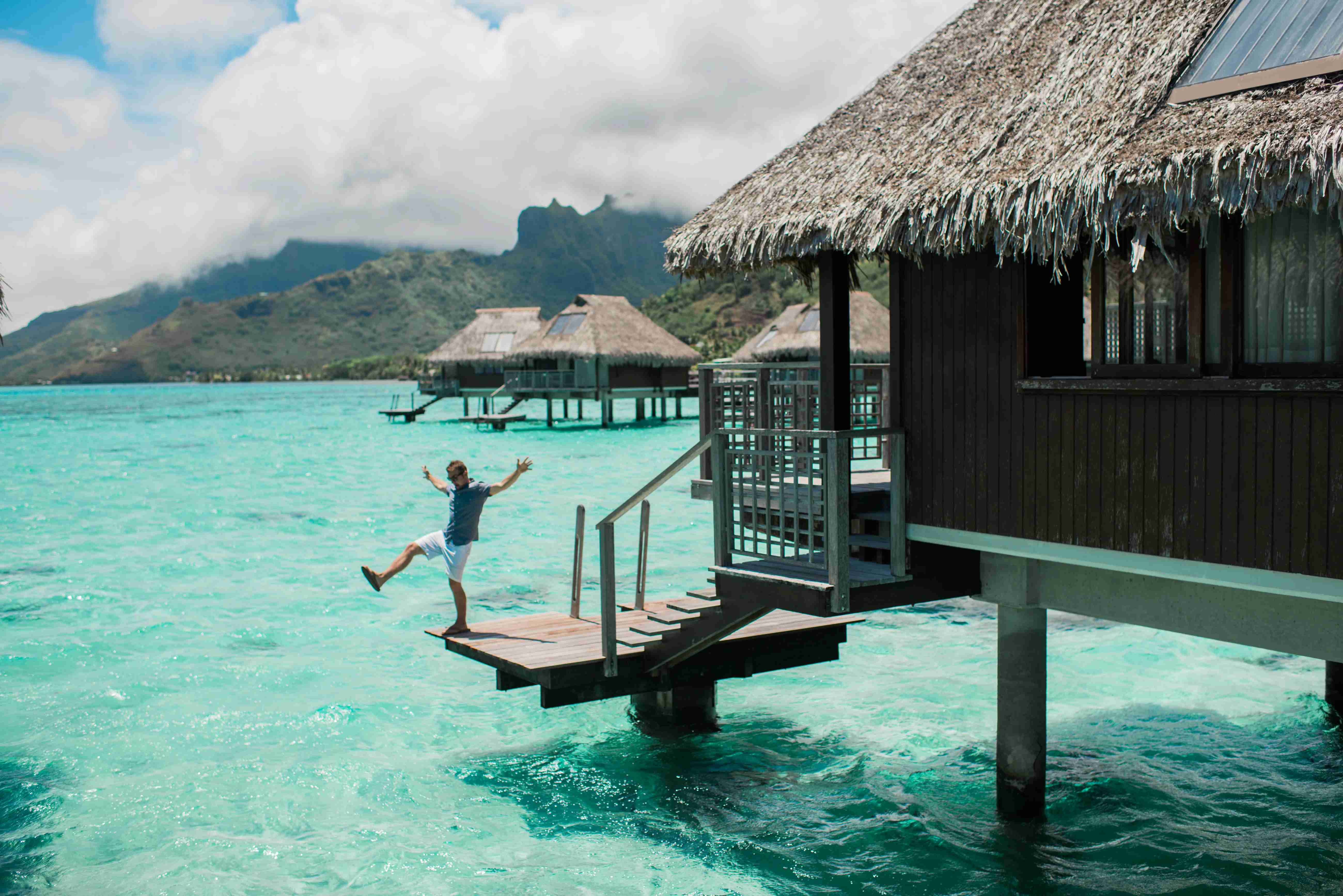 Hilton Moorea Lagoon Resort and Spa - overwater bungalow porch