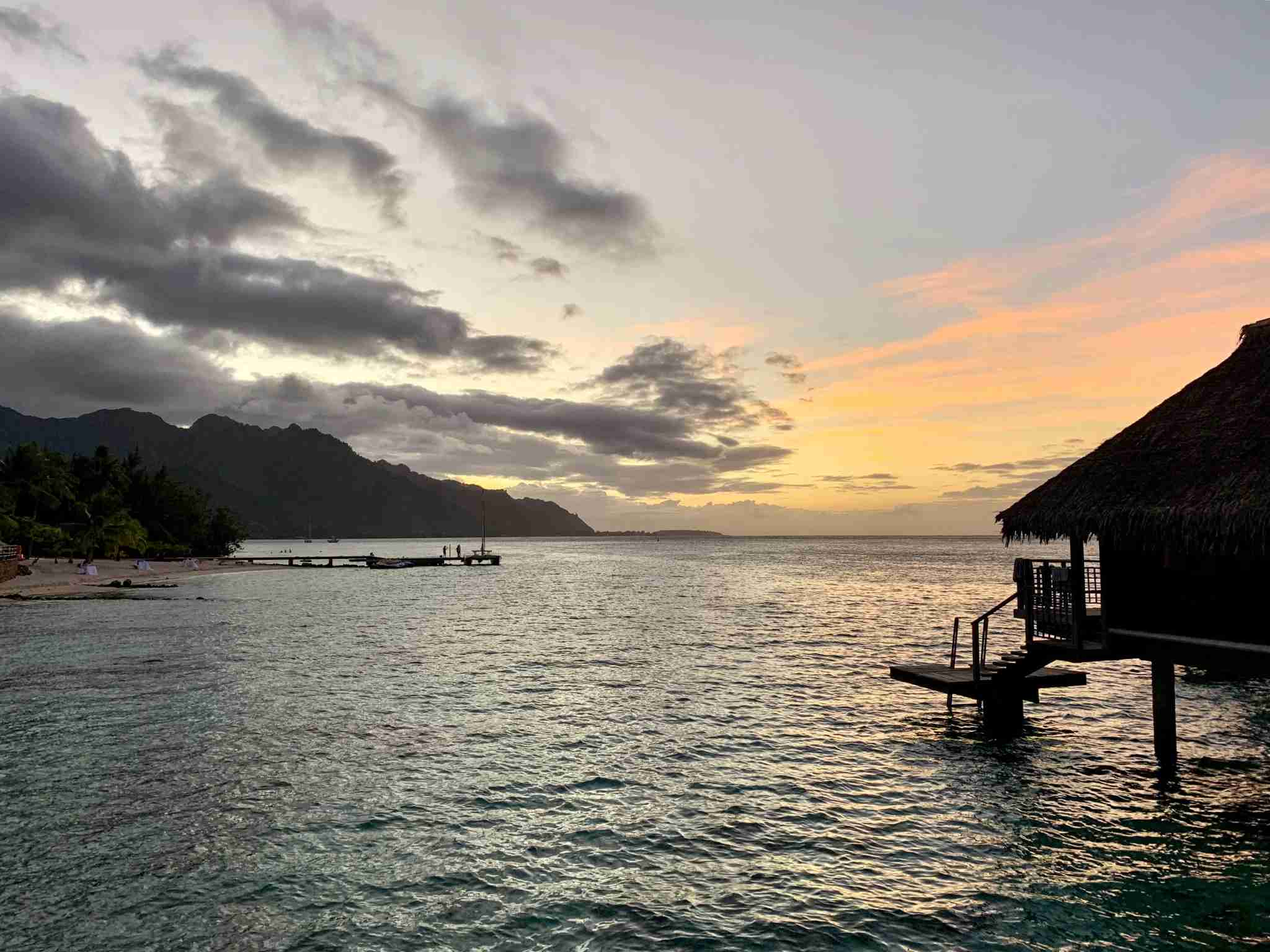 Hilton Moorea Lagoon Resort and Spa - sunset view