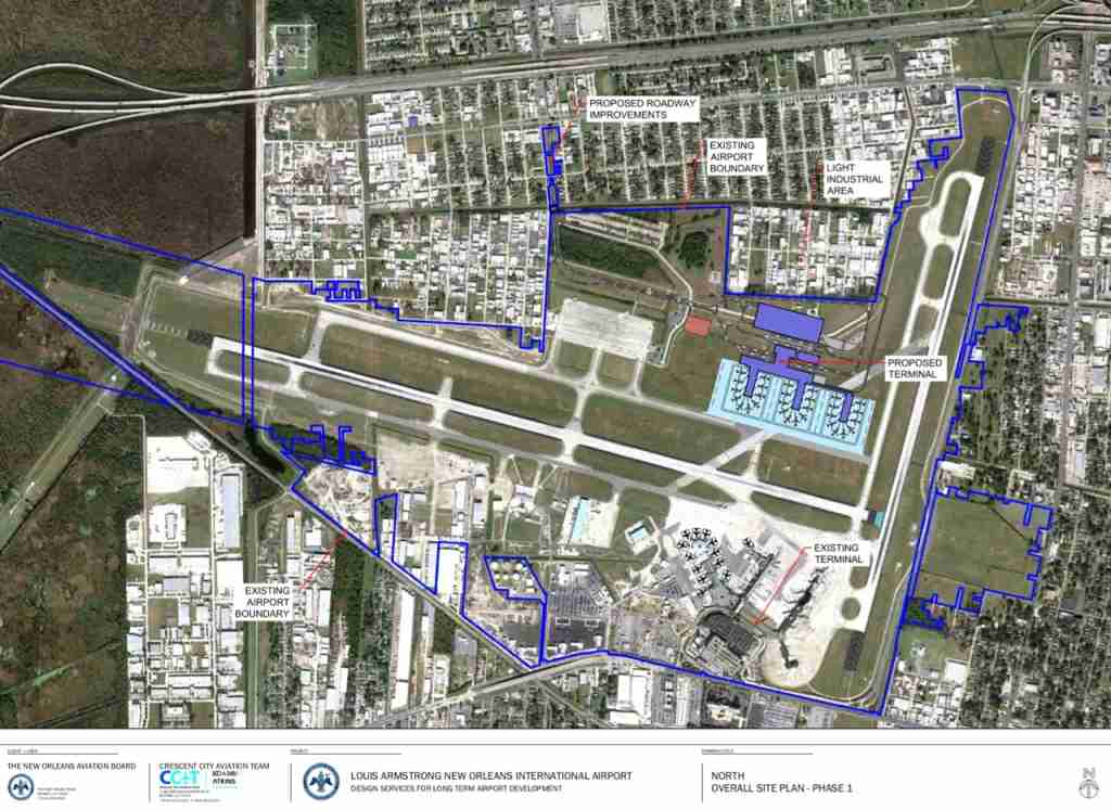 New MSY masterplan - Image courtesy New Orleans Department of Aviation