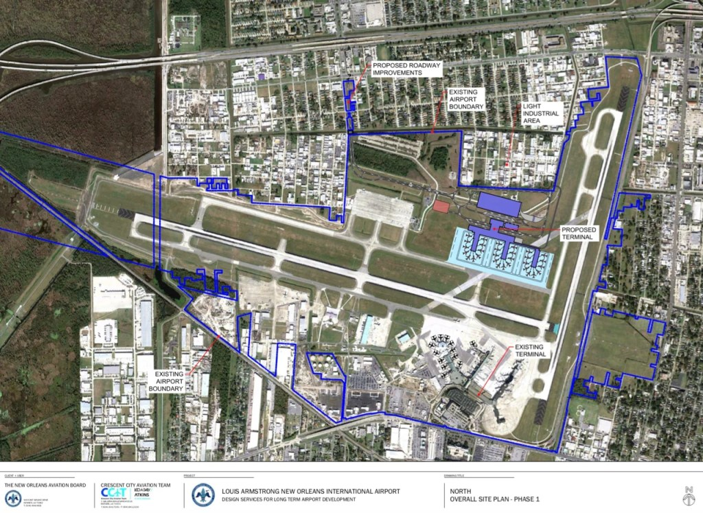 new orleans terminal map An Exclusive Preview Of New Orleans Airport S New Terminal new orleans terminal map