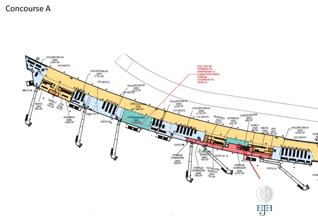 map of new orleans airport An Exclusive Preview Of New Orleans Airport S New Terminal map of new orleans airport