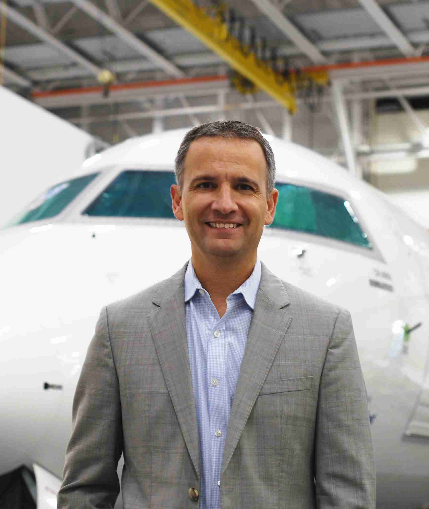 Bombardier Commercial Aircraft VP of Marketing, Patrick Baudis (Photo by Howard Slutsken / TPG)
