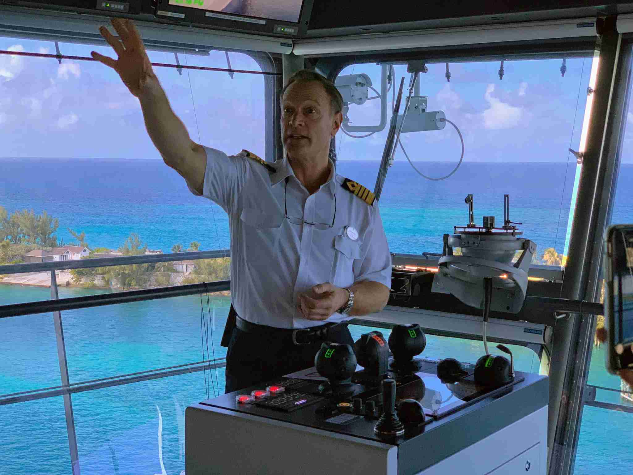 Royal Caribbean Symphony of the Seas - Captain Rob on The Bridge
