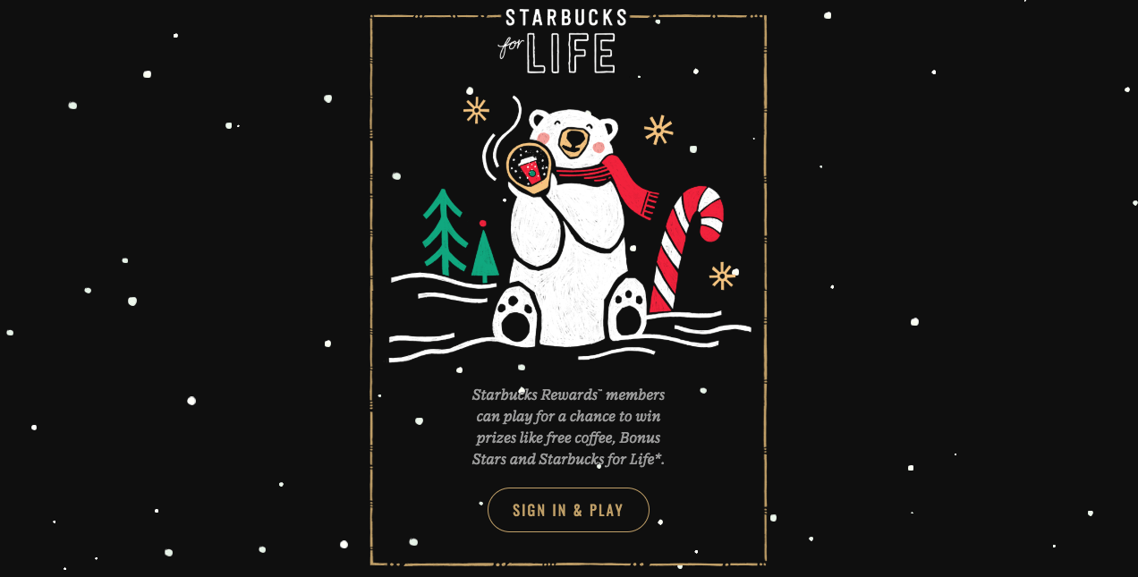 Play to Win Free Starbucks for Life & More With Latest Game