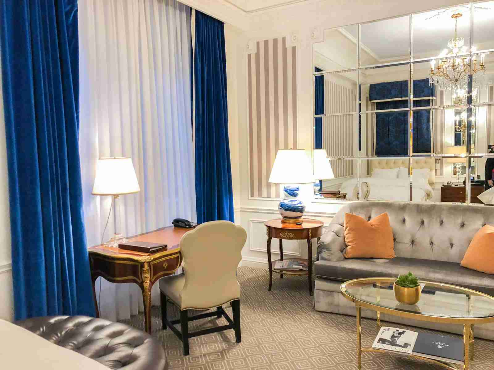 Suite upgrade at the St. Regis New York