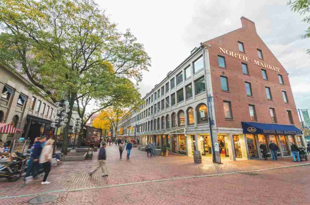 Faneuil Hall Marketplace in Boston, MA. (Photo via Shutterstock)
