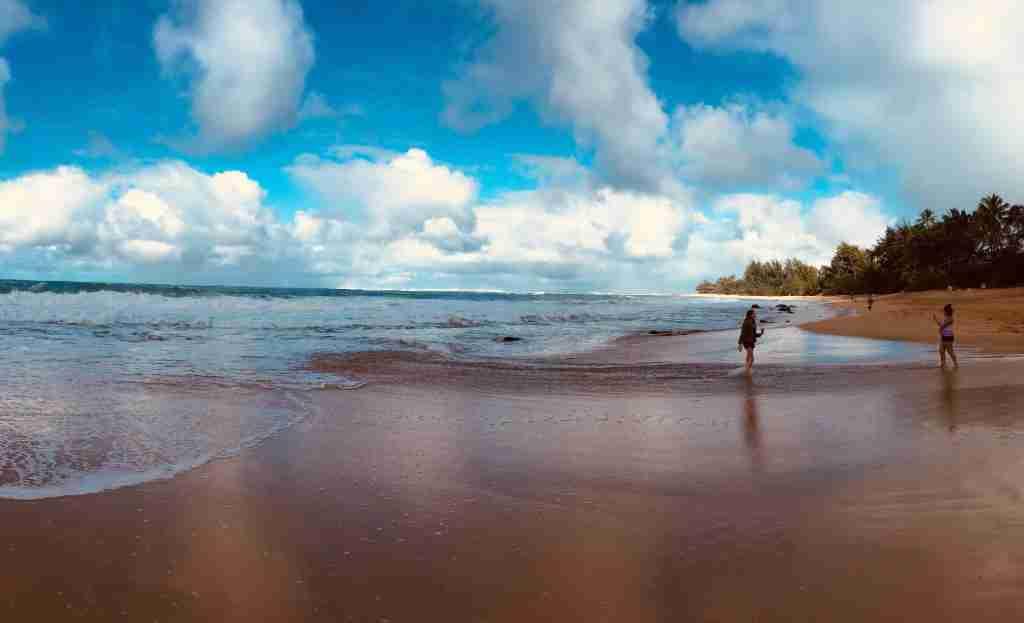 Kauai beach after rain