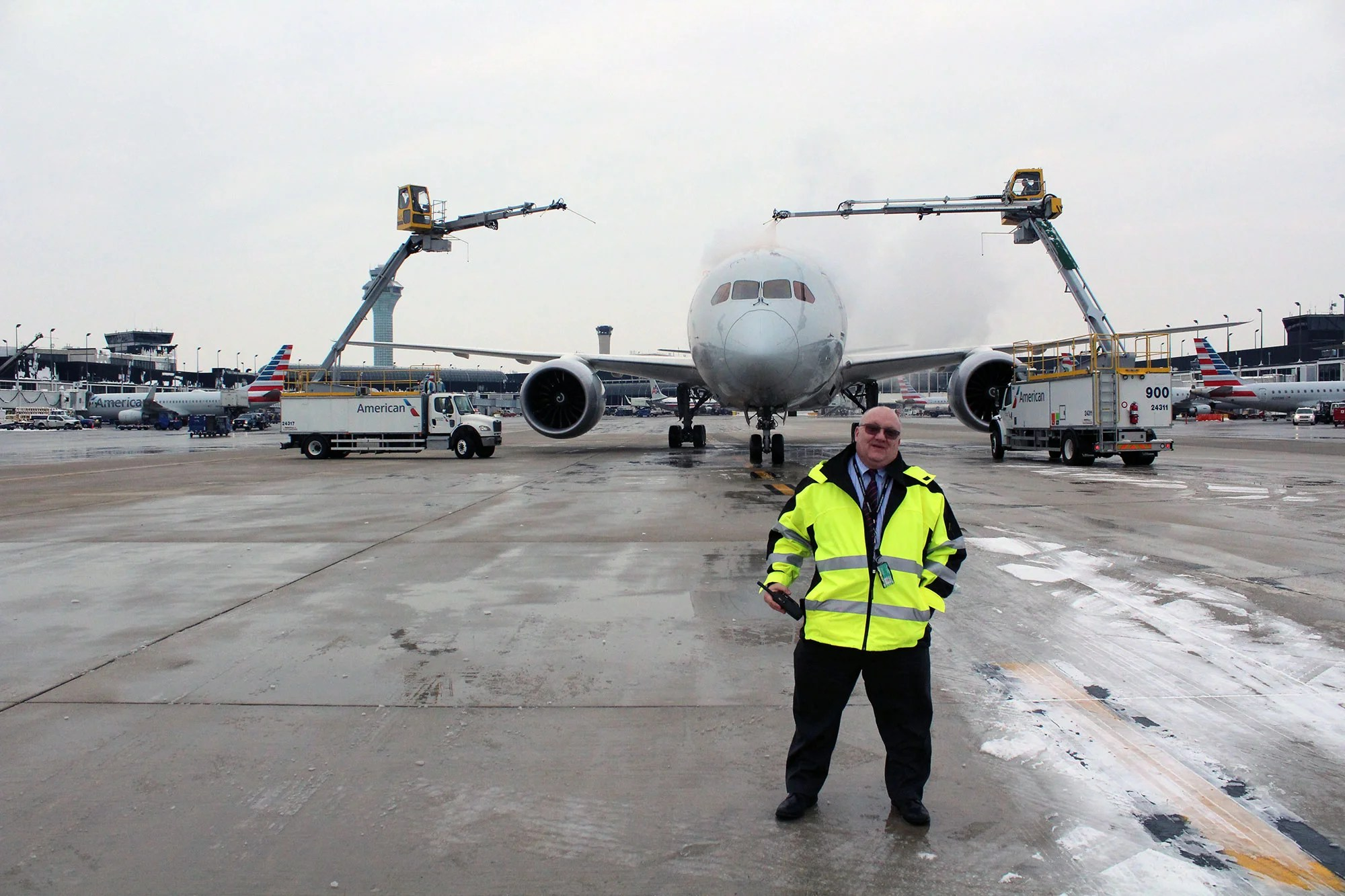 Behind the Scenes With American Airlines' De-icing Operations