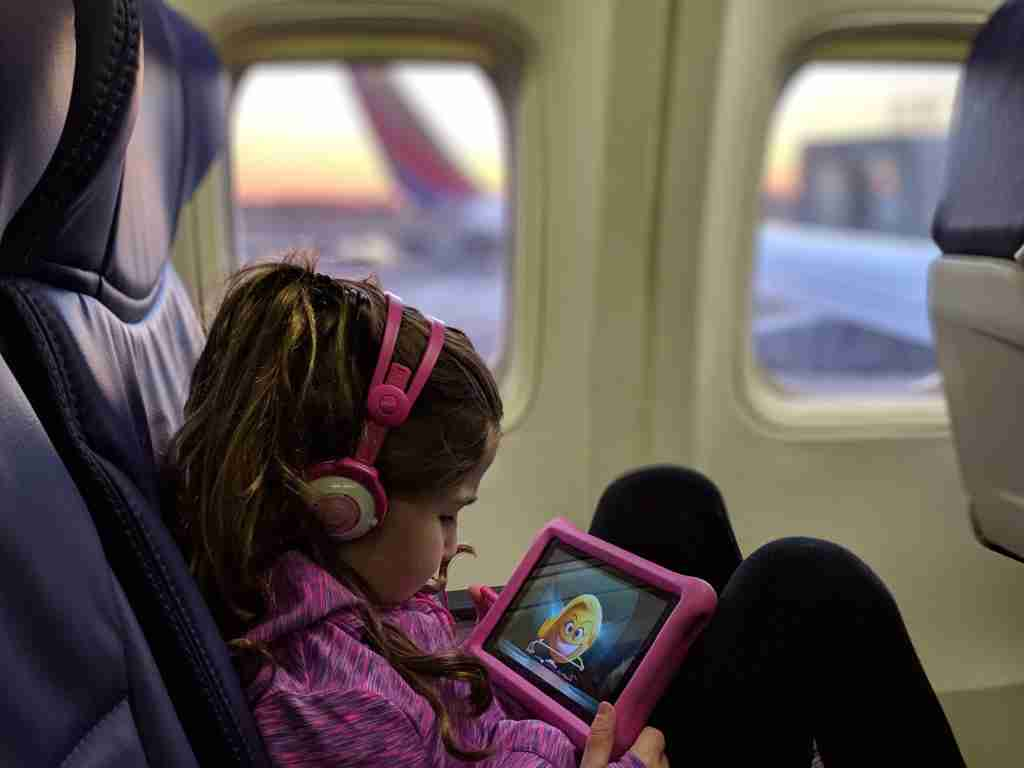 Entertainment to keep children occupied on a flight (Photo courtesy of Deals We Like / Jennifer Yellin)