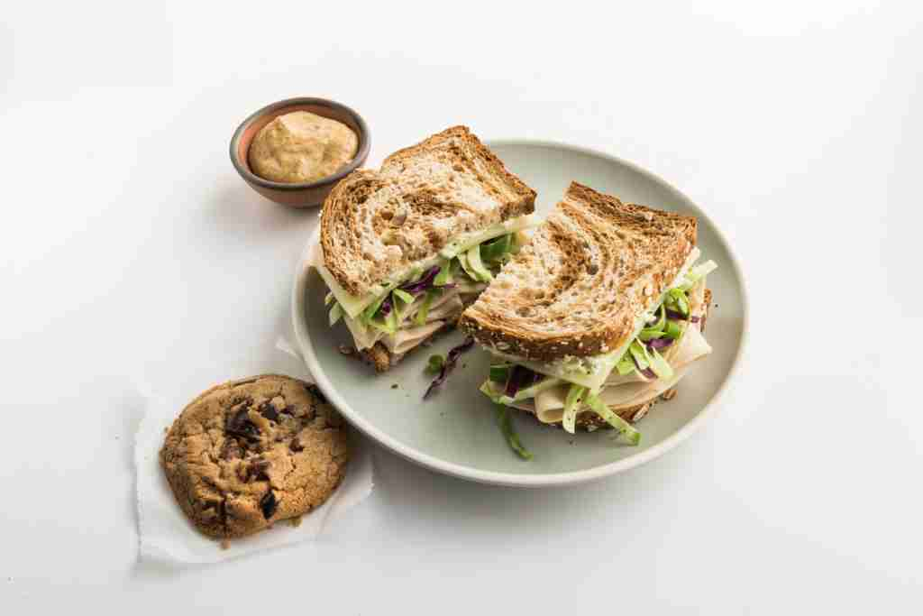 Zoës Kitchen Gruben Sandwich. (Photo courtesy of American Airlines.)