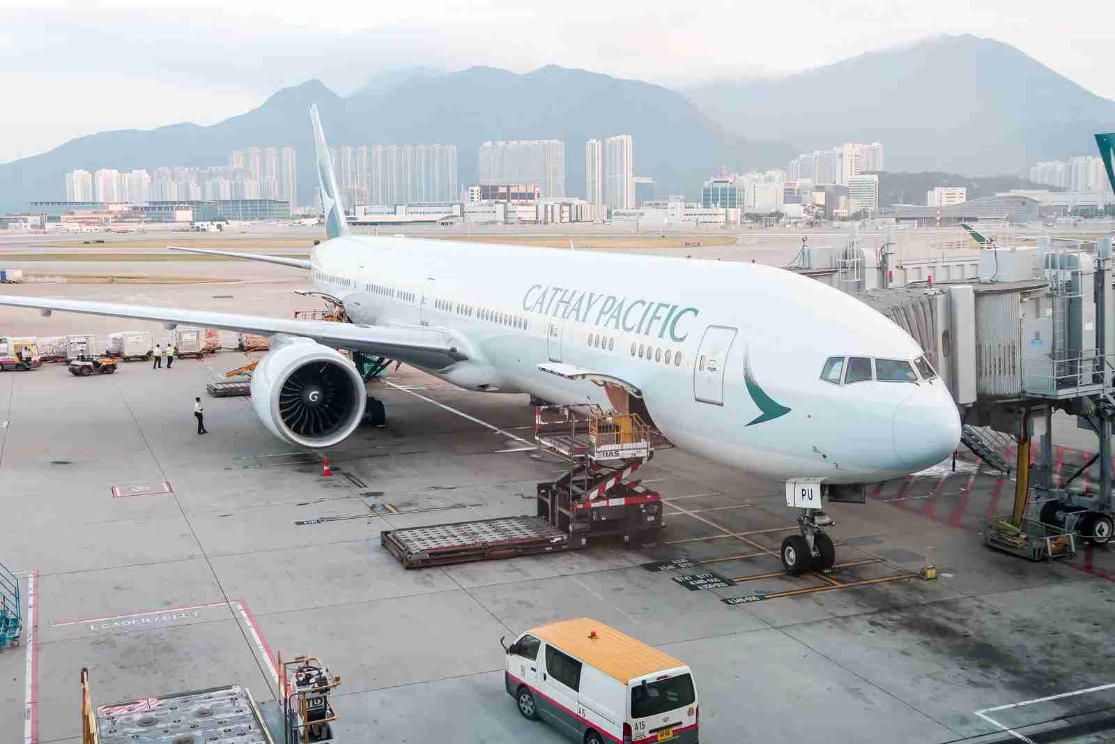 A Cathay Pacific aircraft in Hong Kong (Photo by JT Genter / The Points Guy)