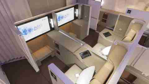 China Eastern Business Class Air Living Room