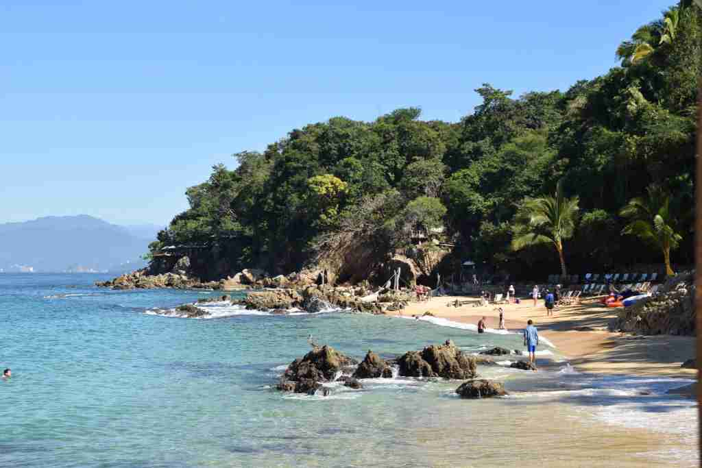 Las Caletas private beach in Puerto Vallarta