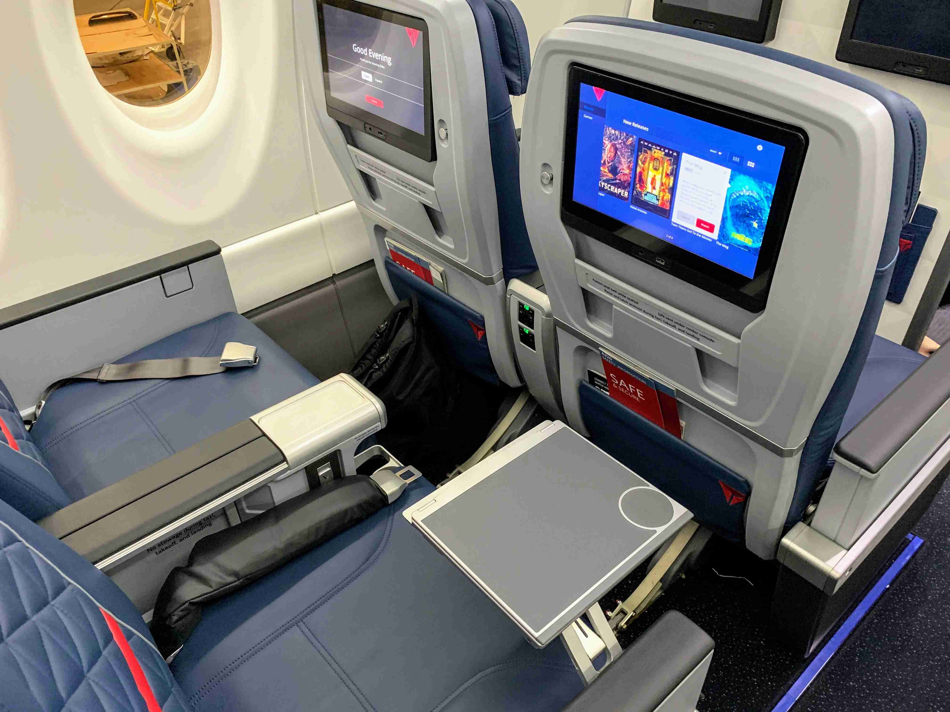 First class seating aboard Delta