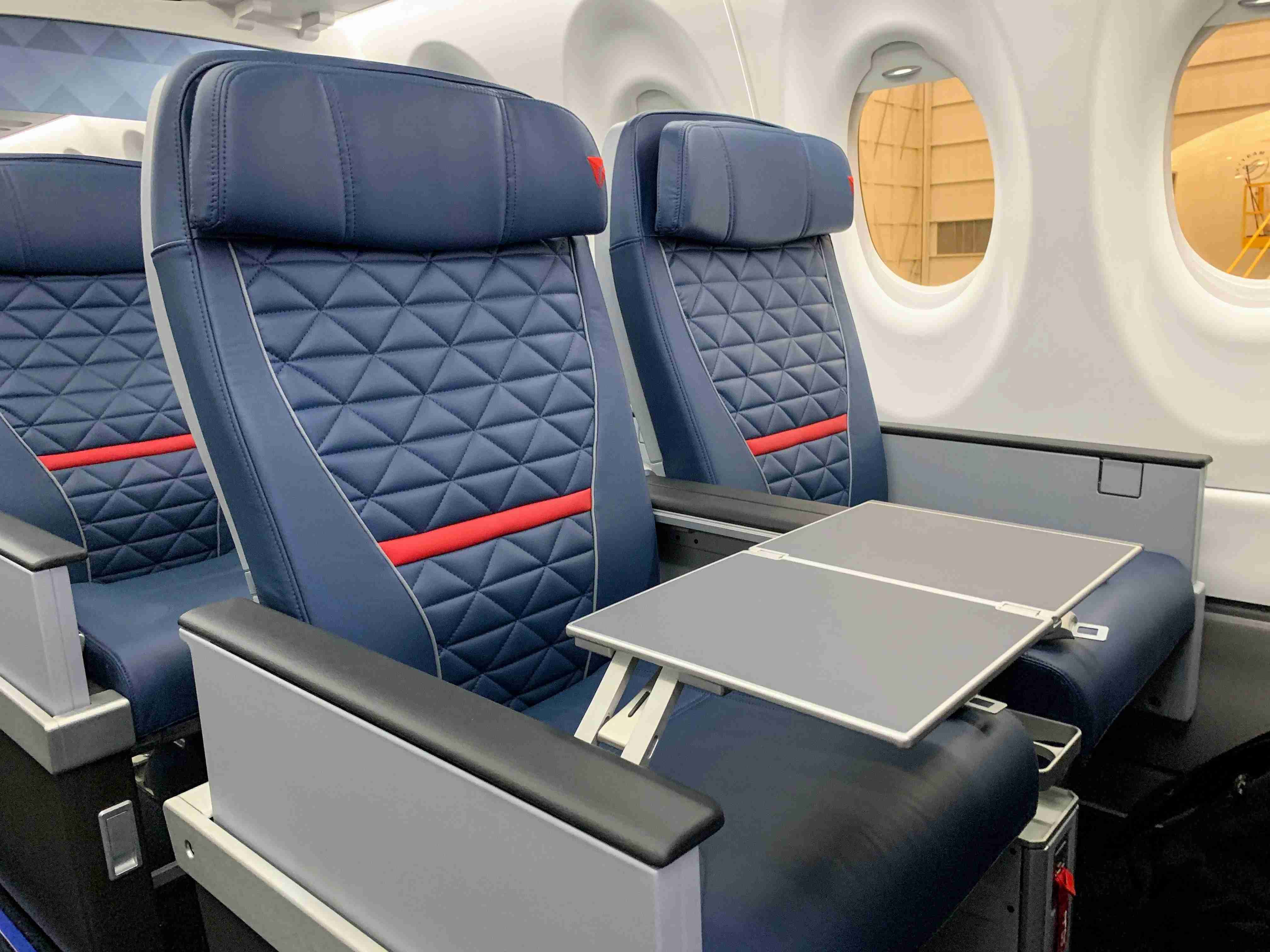 First and coach class seating on Delta