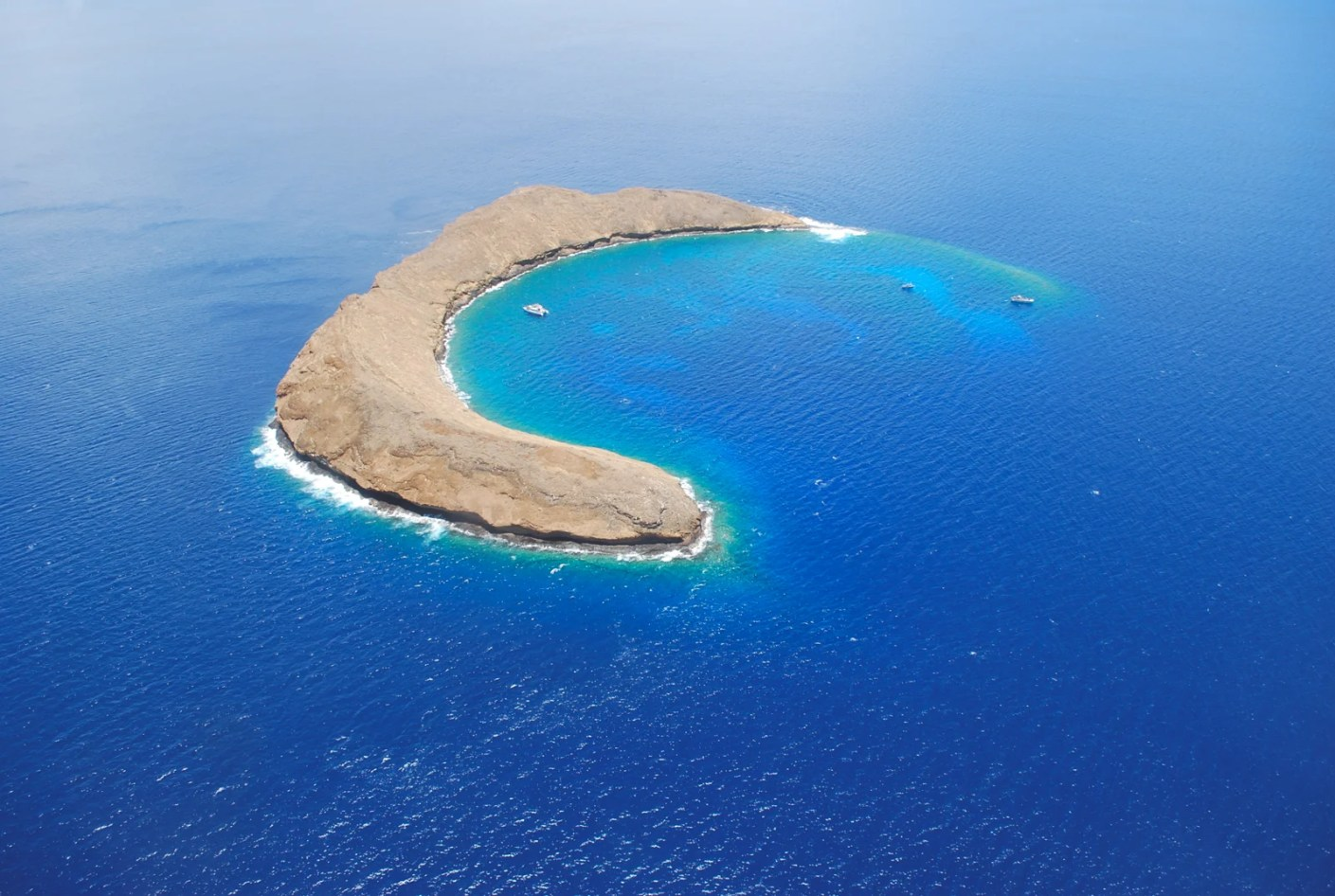The Molokini Crater in Hawaii. (Photo via Shutterstock)