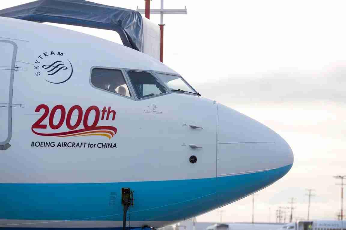 XiamenAir 737 MAX 8 C1 Flight. Image courtesy of Boeing