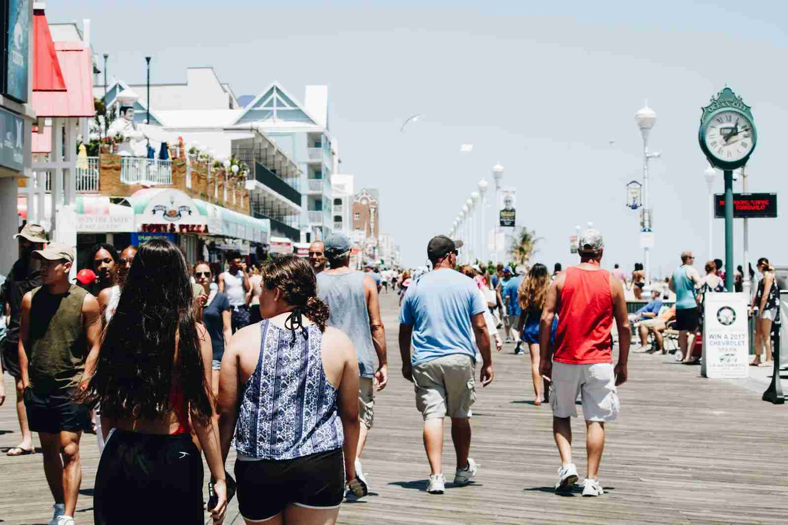 Ocean City Boardwalk in Maryland. (Photo by Oscar Bonilla via Unsplash)