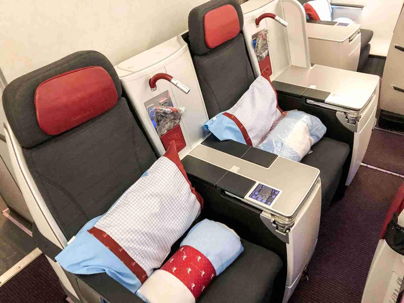 Austrian Business Class (Summer Hull / The Points Guy)