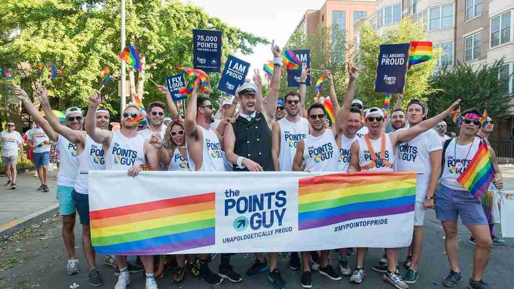 The Pride Parade in Washington, DC, 2017. (Photo courtesy of The Points Guy)